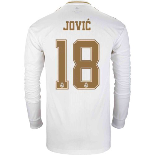 2019/20 adidas Luka Jovic Real Madrid Home L/S Jersey