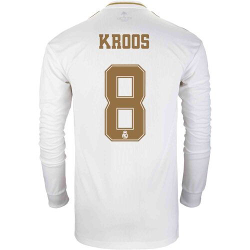 2019/20 adidas Toni Kroos Real Madrid Home L/S Jersey