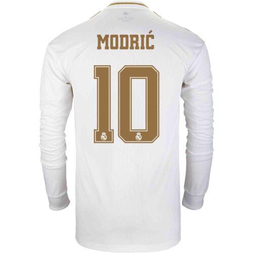 2019/20 adidas Luka Modric Real Madrid Home L/S Jersey