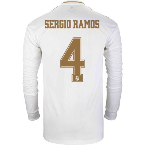 2019/20 adidas Sergio Ramos Real Madrid Home L/S Jersey