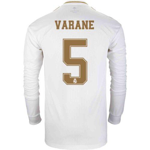 2019/20 adidas Raphael Varane Real Madrid Home L/S Jersey