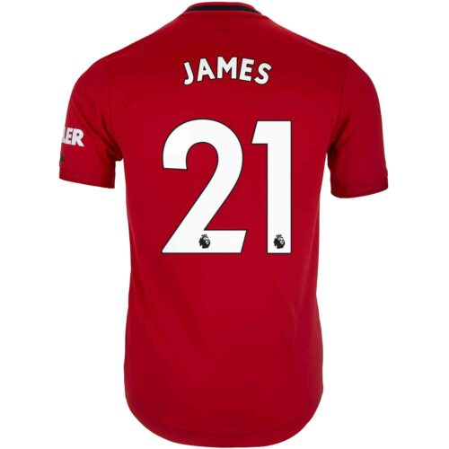 2019/20 adidas Daniel James Manchester United Home Authentic Jersey