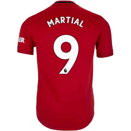 2019/20 adidas Anthony Martial Manchester United Home Authentic Jersey