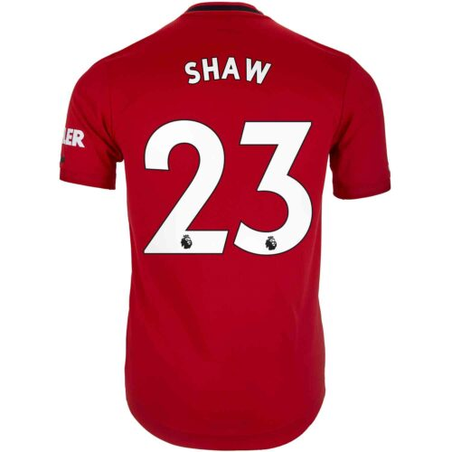 2019/20 adidas Luke Shaw Manchester United Home Authentic Jersey