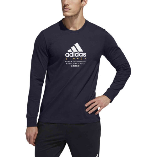 adidas Lifestyle L/S Graphic Tee – Legend Ink