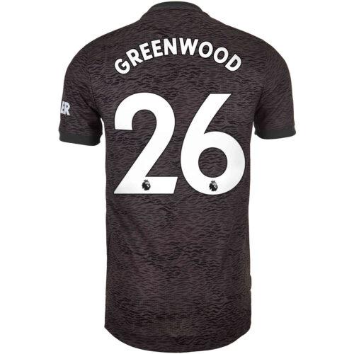 2020/21 adidas Mason Greenwood Manchester United Away Authentic Jersey