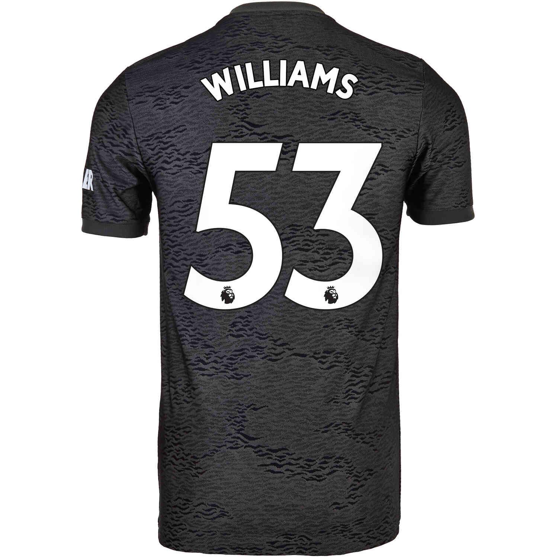 2020/21 adidas Brandon Williams Manchester United Away Jersey ...