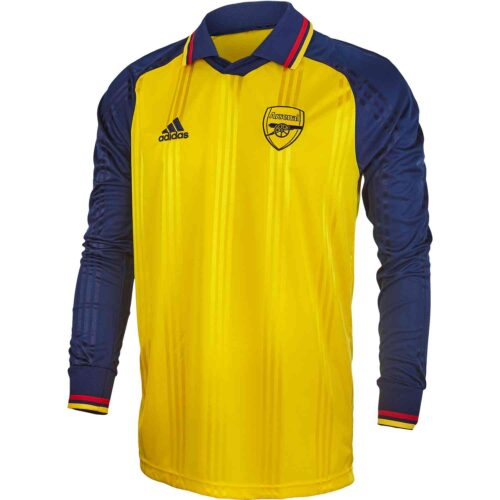 adidas Arsenal L/S Retro Jersey – Equipment Yellow/Collegiate Navy