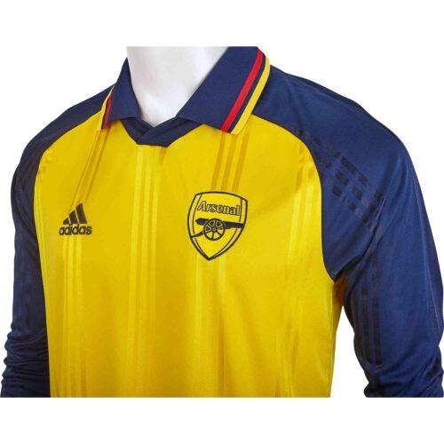 adidas Arsenal L/S Retro Jersey – Equipment Yellow/Collegiate Navy