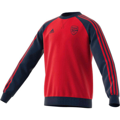 Kids adidas Arsenal Crew Sweatshirt – Scarlet/Collegiate Navy