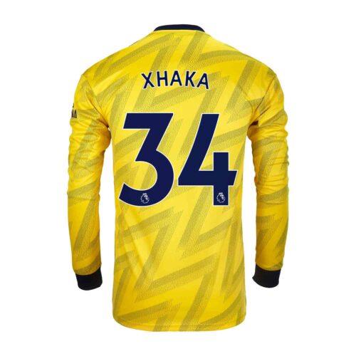 2019/20 adidas Granit Xhaka Arsenal Away L/S Stadium Jersey