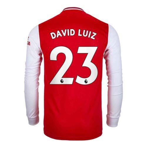 2019/20 adidas David Luiz Arsenal Home L/S Jersey