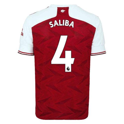 2020/21 adidas Willian Saliba Arsenal Home Jersey