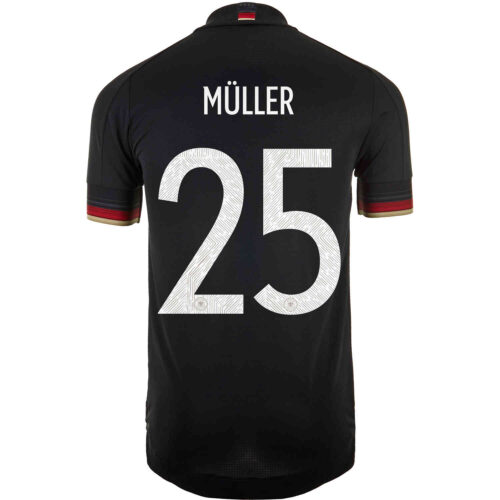 2021 adidas Thomas Muller Germany Away Authentic Jersey