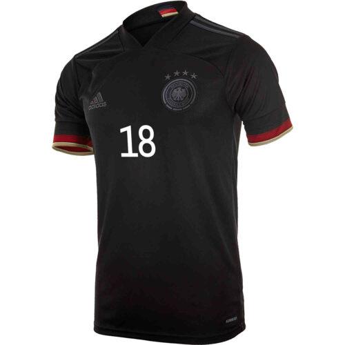 2021 adidas Leon Goretzka Germany Away Jersey