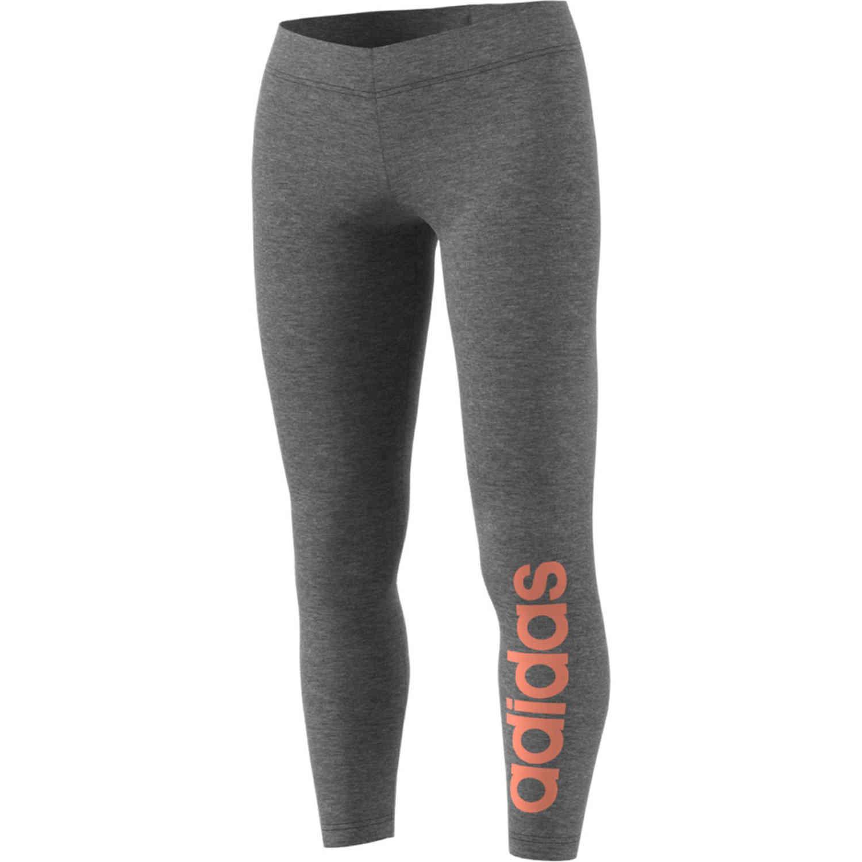 Womens Adidas Essentials Lifestyle Tights Dark Grey Heather Semi Coral Soccerpro