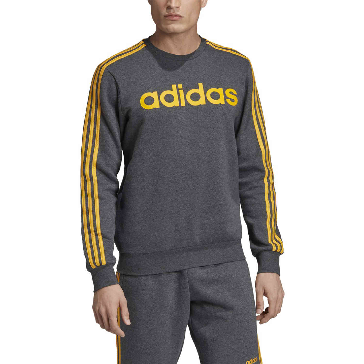 adidas fleece grey