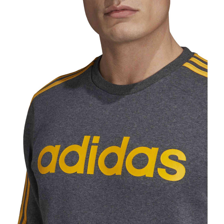 adidas Essentials Lifestyle 3 Stripes Fleece Crew Dark