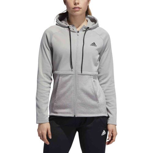 Womens adidas Team Issue Lifestyle Full-zip Hoodie – MGH Solid Grey
