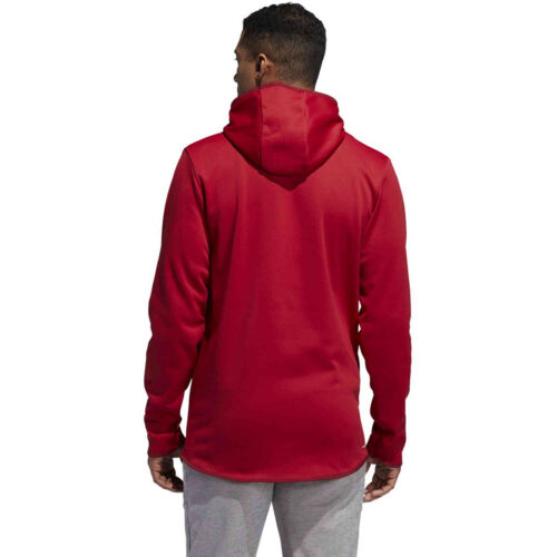 adidas Team Issue Lifestyle Badge of Sport Hoodie – Active Maroon/Black