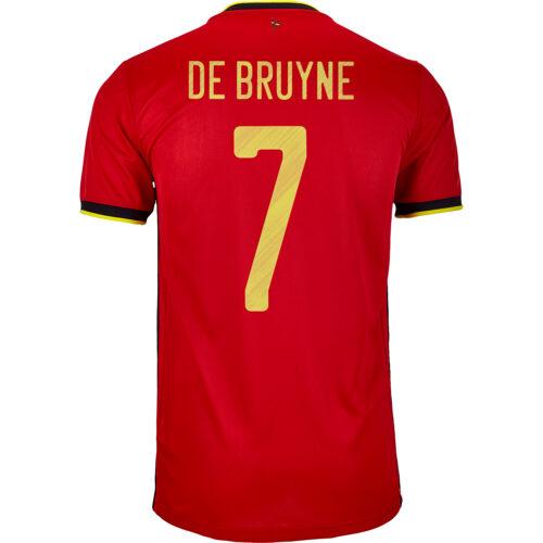 2020 adidas Kevin De Bruyne Belgium Home Jersey