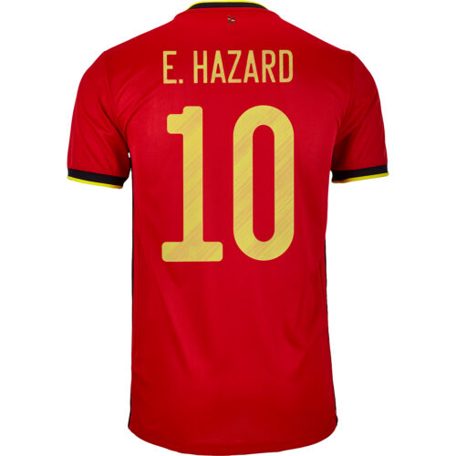 2020 adidas Eden Hazard Belgium Home Jersey