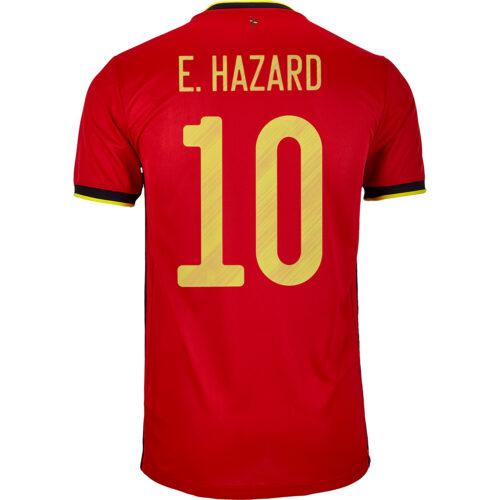 2020 Kids adidas Eden Hazard Belgium Home Jersey