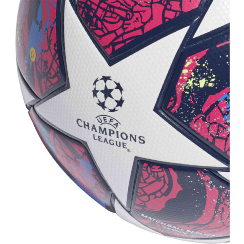 adidas Finale Istanbul League Soccer Ball – White & Pantone with Collegiate Royal