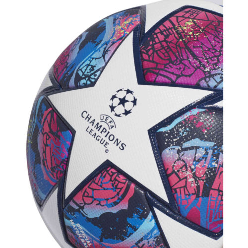 adidas Finale Istanbul Pro Official Match Soccer Ball – White & Pantone with Collegiate Royal