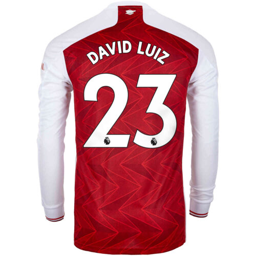 2020/21 adidas David Luiz Arsenal Home L/S Stadium Jersey