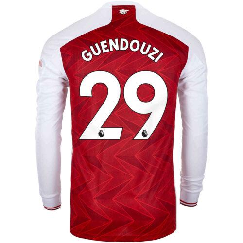 2020/21 adidas Matteo Guendouzi Arsenal Home L/S Stadium Jersey