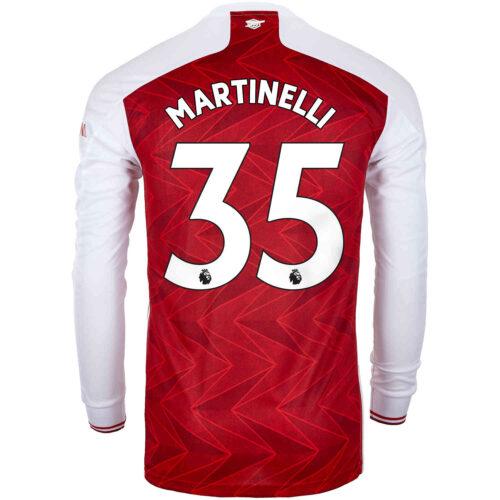 2020/21 adidas Gabriel Martinelli Arsenal Home L/S Stadium Jersey