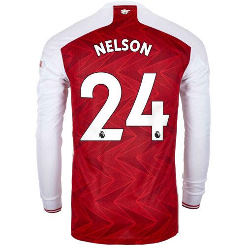 2020/21 adidas Reiss Nelson Arsenal Home L/S Stadium Jersey