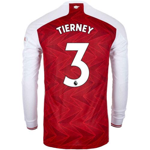 2020/21 adidas Kieran Tierney Arsenal Home L/S Stadium Jersey