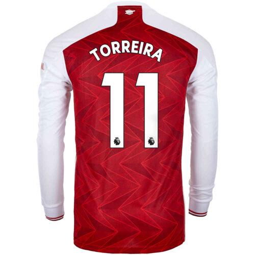 2020/21 adidas Lucas Torreira Arsenal Home L/S Stadium Jersey