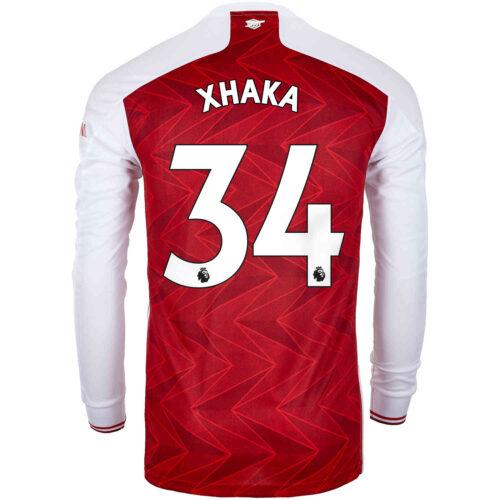 2020/21 adidas Granit Xhaka Arsenal Home L/S Stadium Jersey