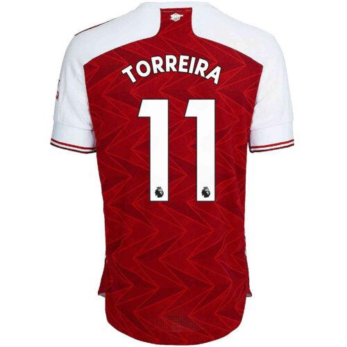 2020/21 adidas Lucas Torreira Arsenal Home Authentic Jersey