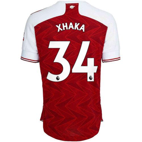 2020/21 adidas Granit Xhaka Arsenal Home Authentic Jersey