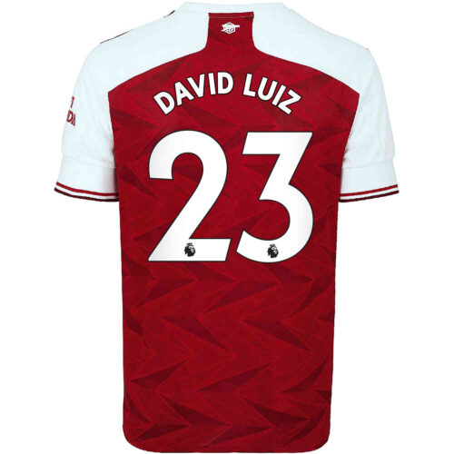 2020/21 Kids adidas David Luiz Arsenal Home Jersey