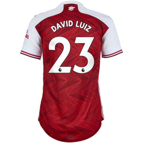 2020/21 Womens adidas David Luiz Arsenal Home Jersey