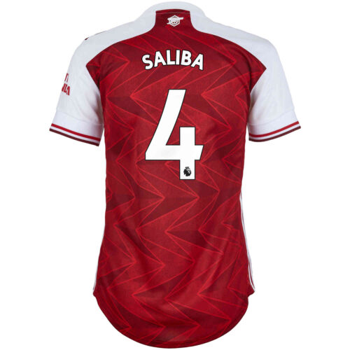 2020/21 Womens adidas Willian Saliba Arsenal Home Jersey