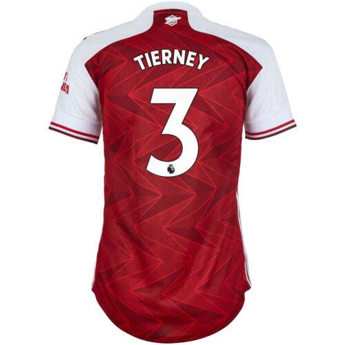 2020/21 Womens adidas Kieran Tierney Arsenal Home Jersey