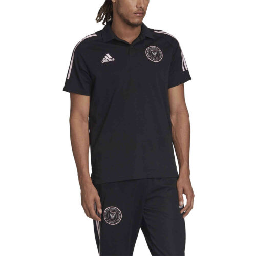 adidas Inter Miami Polo – Black/Clear Pink