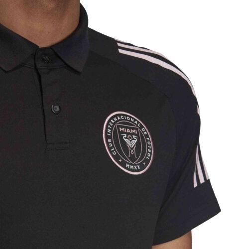 adidas Inter Miami Polo – Black/Clear Pink