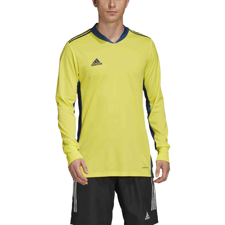 adidas adipro 20 L/S Goalkeeper Jersey - Shock Yellow/Team Navy ...