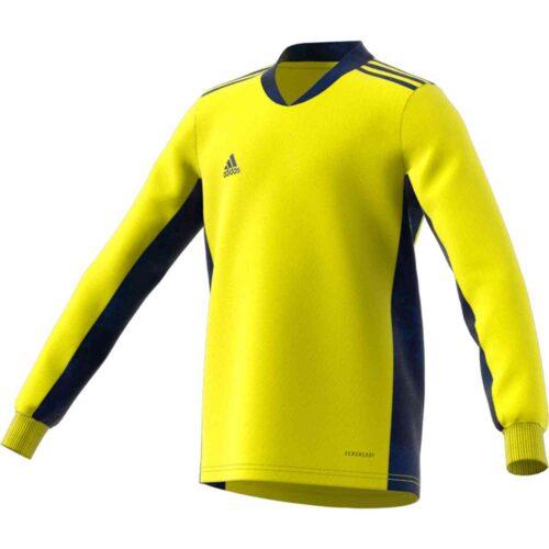 Kids adidas adipro 20 L/S Goalkeeper Jersey – Shock Yellow/Team Navy Blue