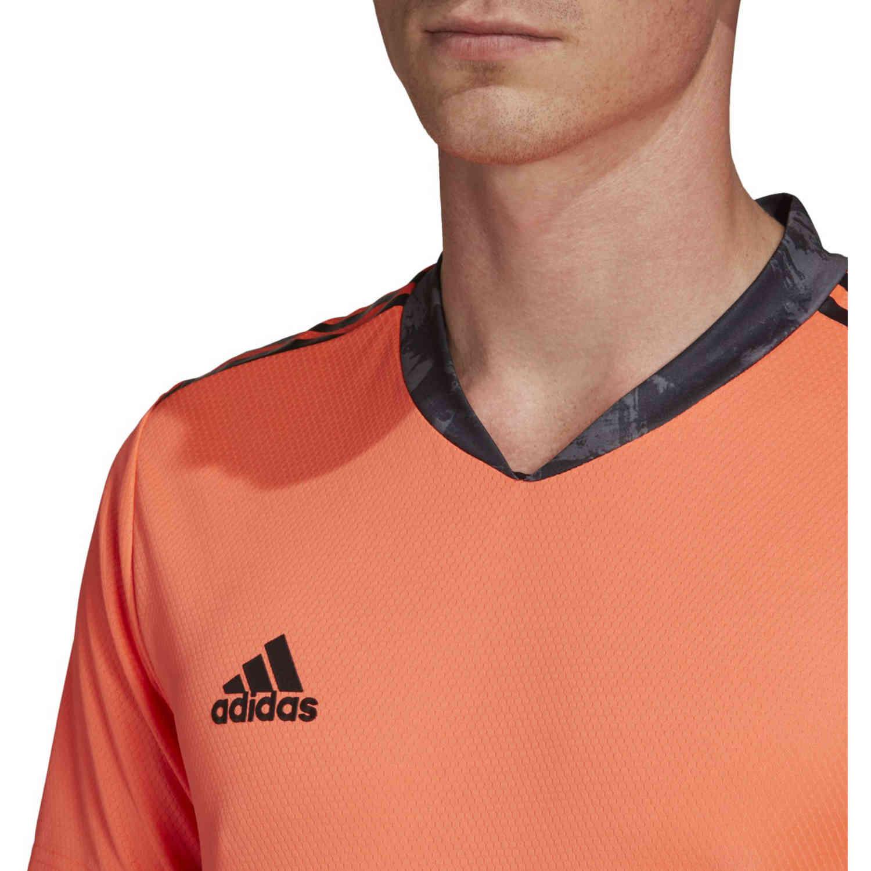 adidas adipro 20 S/S Goalkeeper Jersey - Signal Coral/Black ...