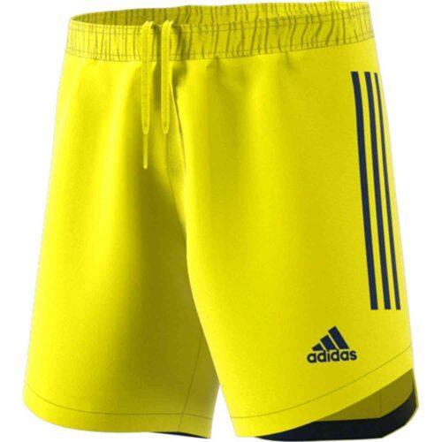 adidas Condivo 20 Team Goalkeeper Shorts – Shock Yellow/Team Navy Blue