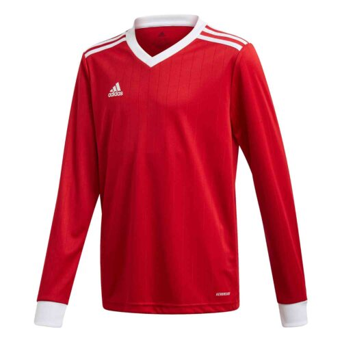 Kids adidas Tabela 18 L/S Jersey – Power Red/White