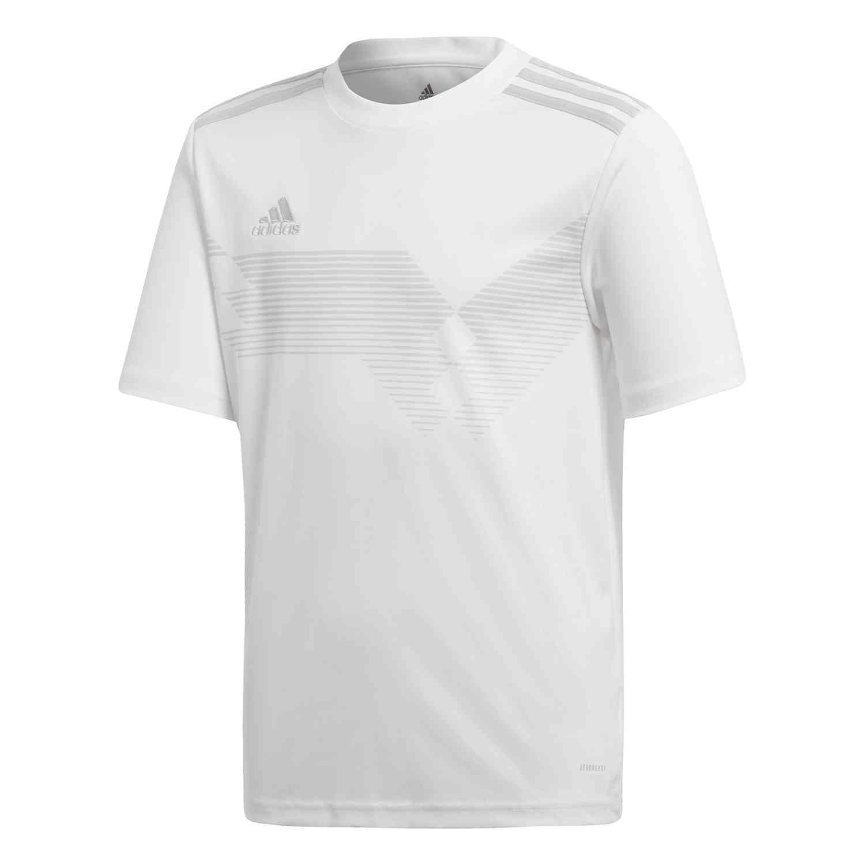 Kids adidas Campeon 19 Jersey - White/Clear Grey - SoccerPro